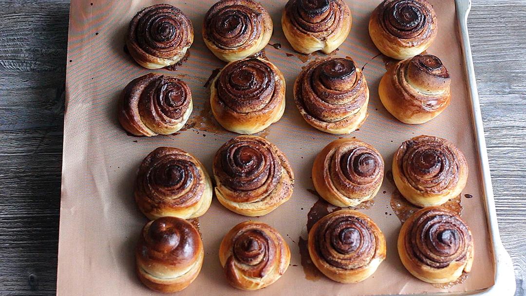 Рецепт приготовления булочек с корицей - шаг 17