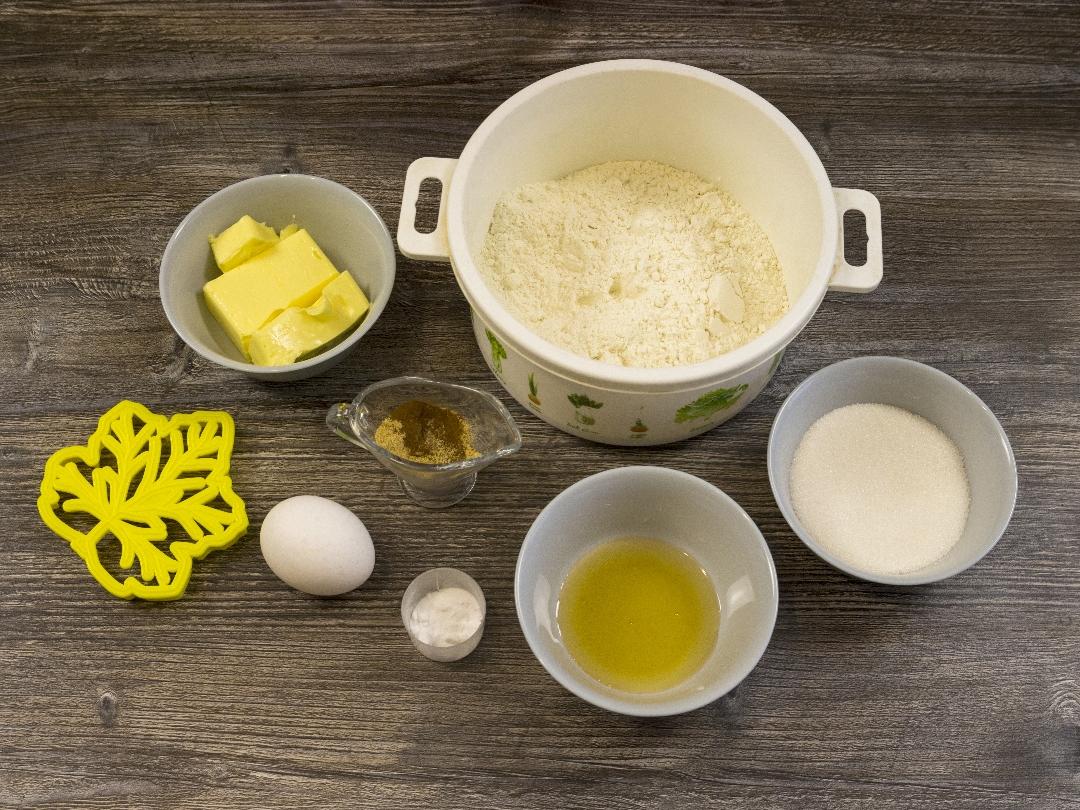 Ингридиенты для приготовления имбирного печенья